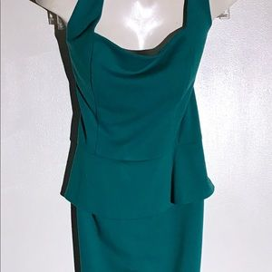 GUC NY Green Midi Dress Flared Hips
